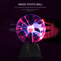 Novelty Glass Magic Plasma Ball Light 5 inch Table Lights Sphere Nightlight Kids Gift For New Year Magic Plasma Night Lamp