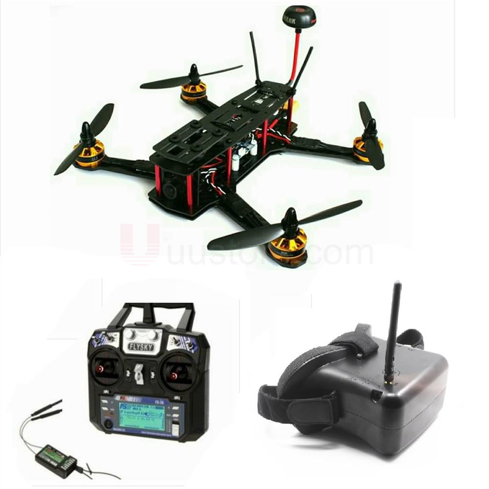 RTF with FPV System Full Set ZMR250 ZMR 2204-2300KV Emax 12A ESC BLHeli OPTO frame Carbon Fiber Assembled Drone with camera mini zmr250 carbon fiber quadcopter cc3d evo control mt2204 2300kv motor emax blheli firmware 20a esc 5045 prop led lights board