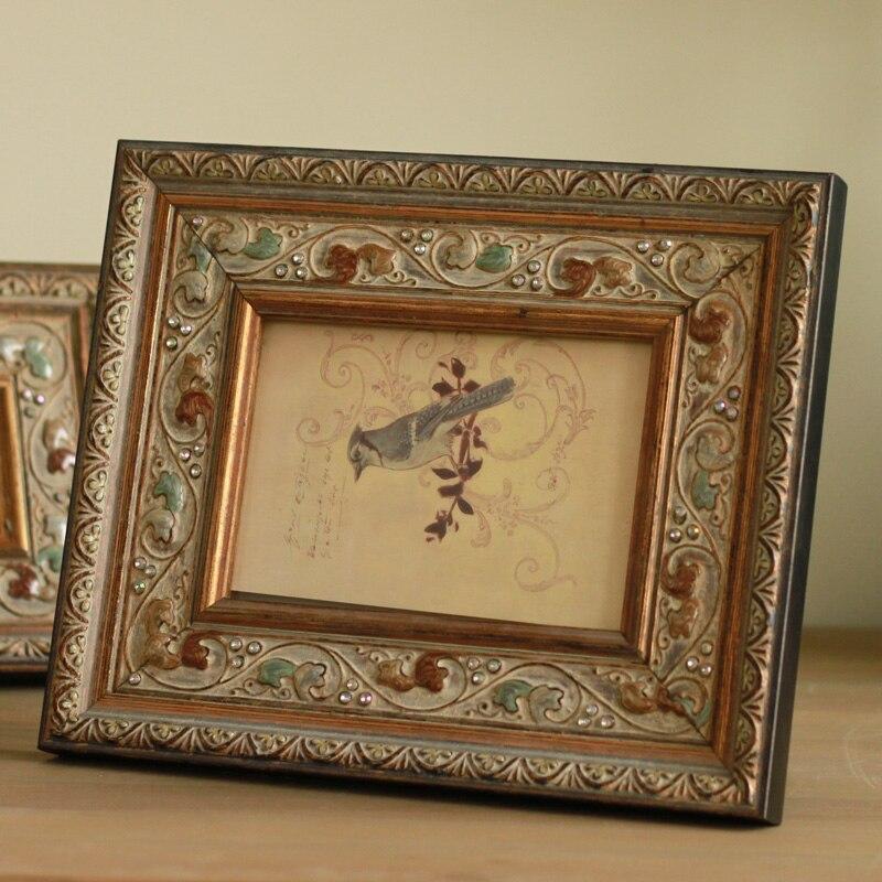 Estilo Europeo creativo de los antiguos marcos de madera taladro ...