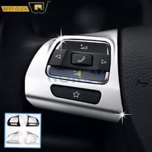 Embellecedor para volante de coche, embellecedor cromado para cubierta de moldura de etiqueta, compatible con VW GOLF MK6 PASSAT B7 CC EOS TIGUAN JETTA TOURAN SHARAN CADDY