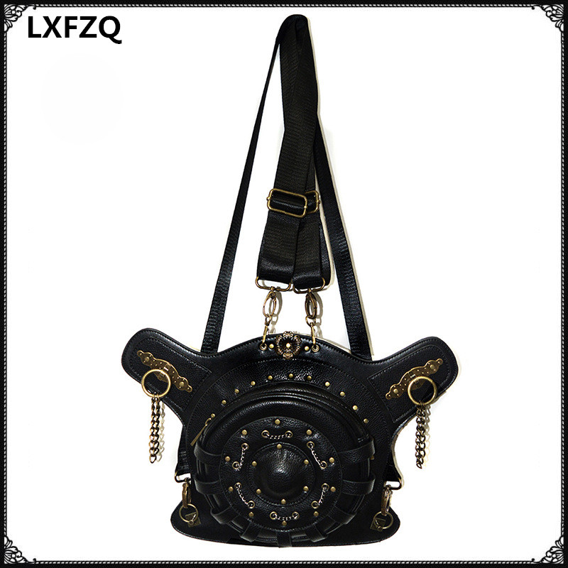 LXFZQ new carteras mujer Steel Master Fashion Steampunk Bag Steam Punk Retro Rock Gothic Backpack backpack SteamPunk bags