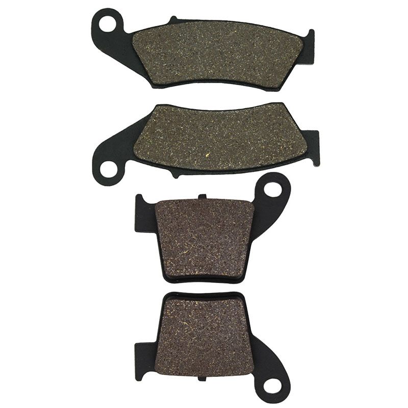 Motorcycle Front & Rear Brake Pads for Honda CRF250 R/X (04-15)/CRF450 R/X (02-15) CRF250R CRF250X CRF450R CRF450X cnc offroad mx clutch brake levers for honda cr125r 04 07 cr250r crf250r 04 06 crf450r 04 06 crf250x 04 16 crf450x 05 16