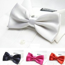 solid bow tie for men dress shirt brand new adult butterfly black white red blue wedding