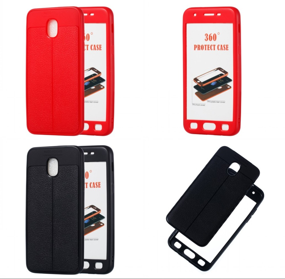 360 Full Body Protect Litchi Case For Samsung Galaxy J3