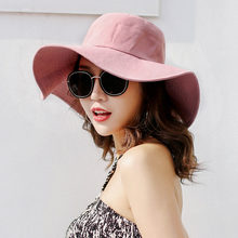 2d745699f83 Spring and Summer Sunscreen Fishers Caps Cotton and Linen Girl Hats Beach  Along The Mountain Cap
