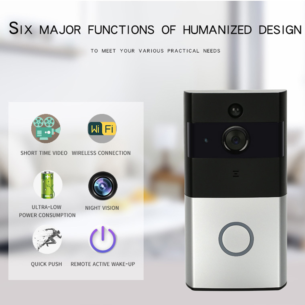 DANMINI WF06 Home Security Wifi Doorbell 720P HD IR Wireless Remote Control Door Bell Alarm for Android For IOS ir appliances wireless remote control for otg android cellphone orange