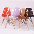 Acrylic Transparent Plastic Chair Cafe Leisure Modern Wood-country-furniture Colored Restaurant Moderne Stoel