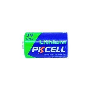 Image 2 - PKCELL بطارية كاميرا ليثيوم قابلة لإعادة الشحن ، 20 قطعة ، 850 مللي أمبير ، 3 فولت CR2 ، CR 15270 CR 15266