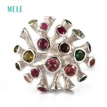 Natürliche Turmalin Silberring, spezielles Design Mode und beliebt, 21mm für die ganze Größe