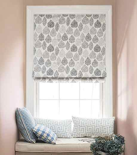 Nordic forest creative cotton and linen lift Roman curtain simple modern thick shade fabric Roman curtain customization