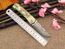 DM-007 Damascus knives outdoor knife Multifunctional tool knife folding knife with 440 c Damascus steel