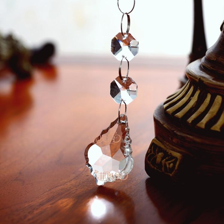 SpringQuan 5 PCS / LOT HIGH-END chiaro Crystal Bead tenda 50 CM - Per vacanze e feste