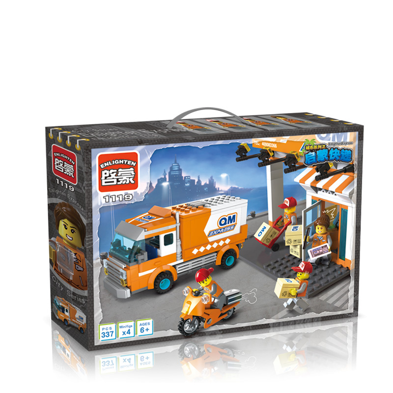 Building Blocks Express-delivery car Compatible with Legoelieds Educational DIY Toys for Children 337pcs 1119 brand kr little red bird and green pig building blocks toys with fun for children kids birthday gift legoelieds lp19003