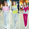2017 Spring Sporting Suit Women Thin Pullover And Cotton Long Pants Women Tracksuits Sporting Suits 2 Two Piece Set Women