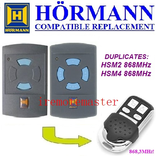 Hormann hsm2 868 hsm4 868mhz replacement remote control free shopping