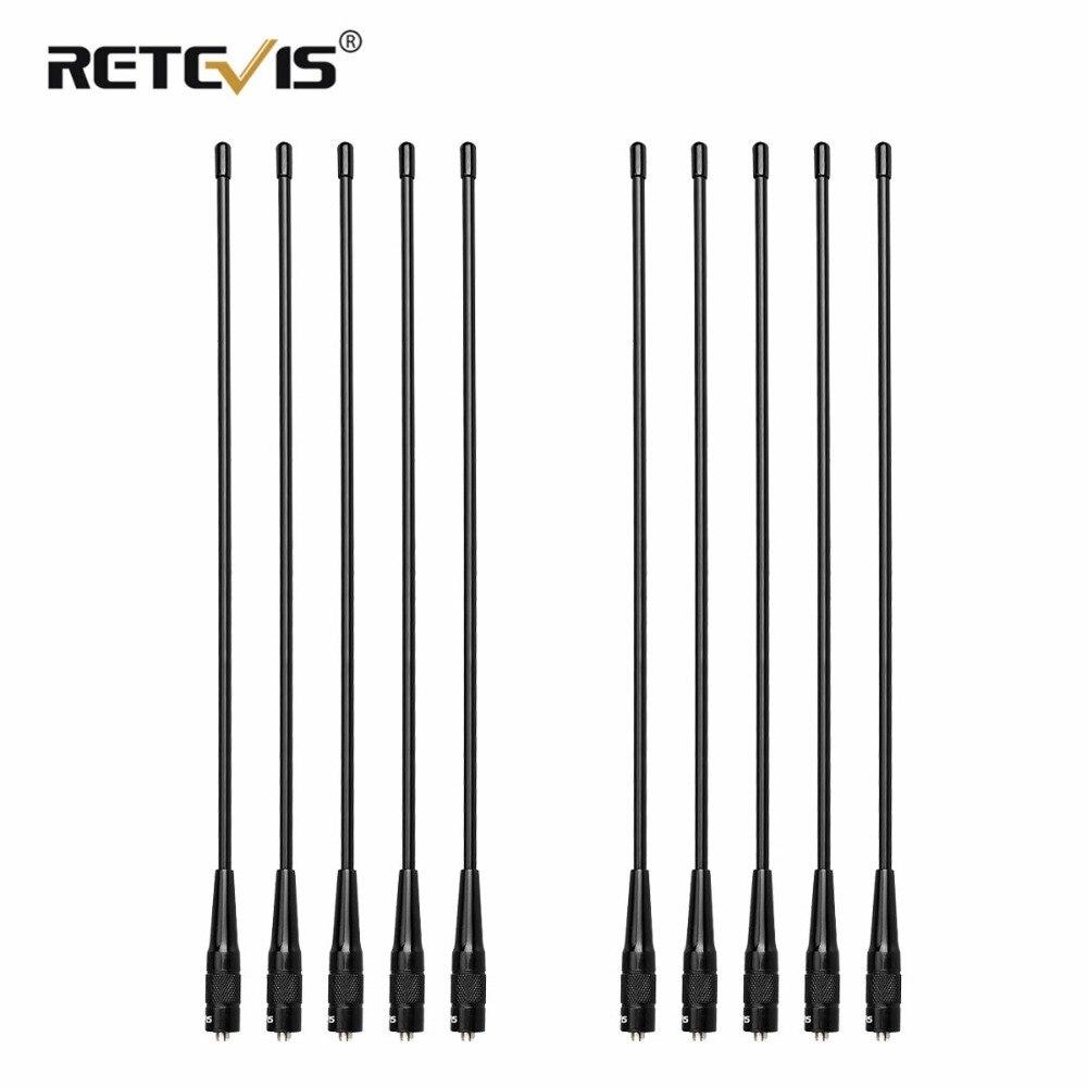 10 pcs Retevis RHD-771 SMA-F Connecteur, Antenne 15.4 ''U/V Antenne Pour H777/RT5R Baofeng UV-5R UV5R bf-888S UV-82 Talkie Walkie