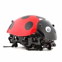 2018 New Ladybug RC Cars Intelligent Remote Control Insect Robot DIY Kits Radio Cartoon Toys Remote Truck Toys Gifts Kids RC Toy