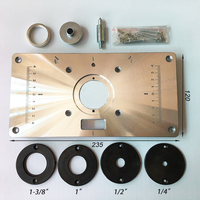 High Hardness Aluminum Router Table Insert Plate For Popular Trimmers Routers DIY Woodworking
