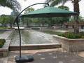 3 meter deluxe aluminum patio hanging sun umbrella garden parasol sunshade outdoor furniture covers with plastic water tank