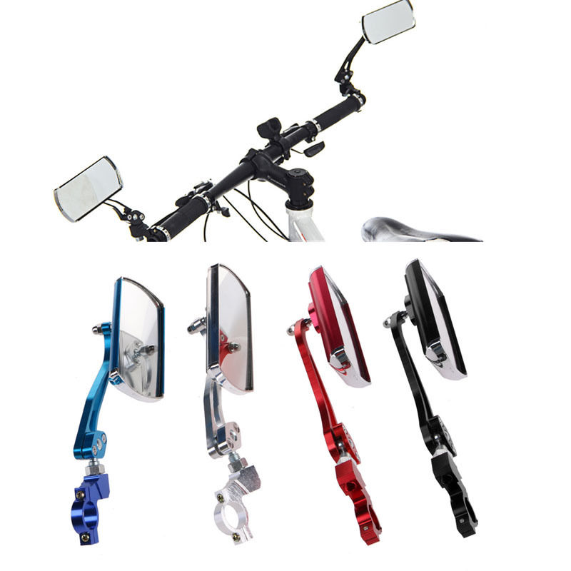New High Quality Aluminum Cycling Bike Bicycle Classic Rear View Mirror Handlebar Flexible Safety Rearview Biking Parts