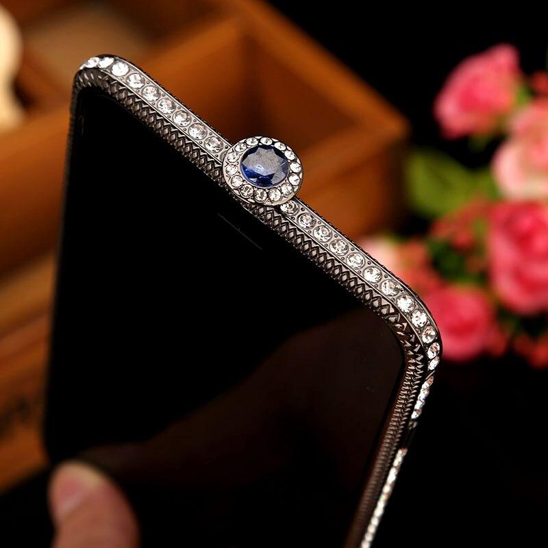 De Lujo Jeweled rhinestone caja del teléfono de parachoques para el iPhone 7 más 5.5 pulgadas diamante matallic teléfono cubierta para el iPhone 7 más 5.5 pulgadas