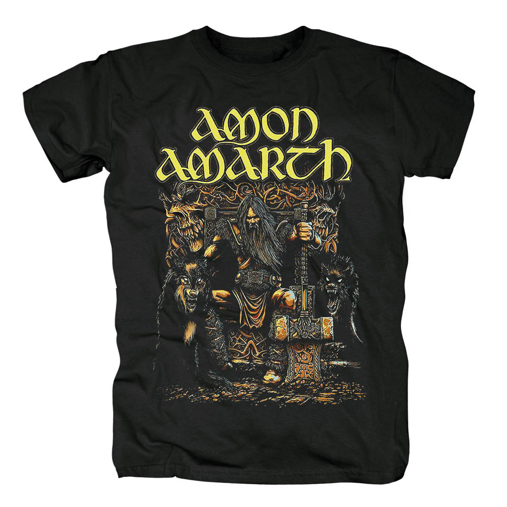 Bloodhoof Amon Amarth Heavy Metal Melodic Death Metalmen's black T Shirt Asian Size