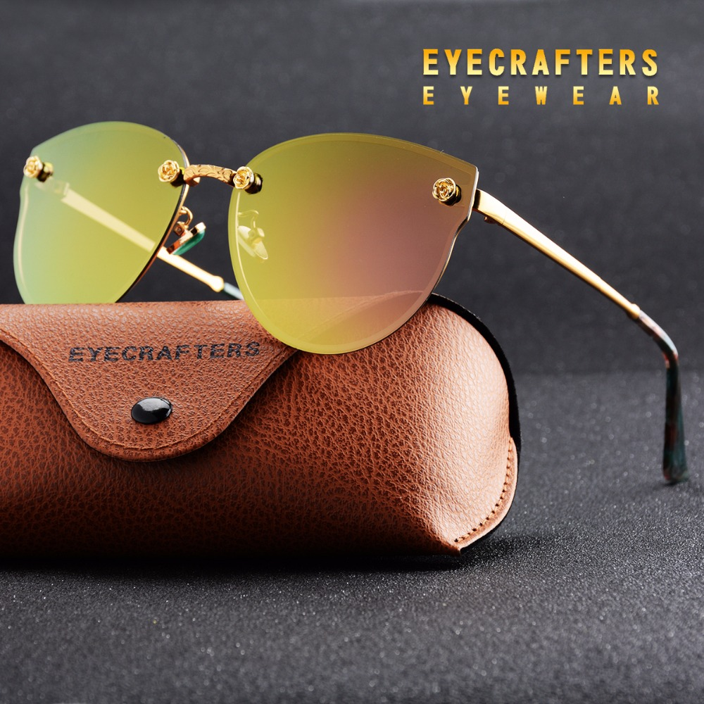 7f0636df89e6 DELEGINA Design Ladies Big Cat Eye Style Women Sunglasses Polarized Girls  Sun Glasses Mirror With Case