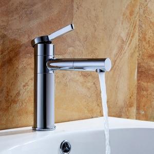 Image 3 - Смесители для раковины, латунный Смеситель для ванной комнаты, смеситель для раковины, смеситель для раковины, поворотный носик, устанавливаемый на раковину белый цвет, Ручной смеситель