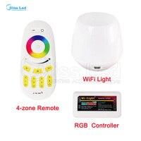 Toptan WiFi + 2.4G Uzaktan + 1 RGB LED Kontrolör akıllı wifi denetleyici Işık RGB Led Şerit Işık Için lamba Ampul Kablosuz RF Dokunmatik