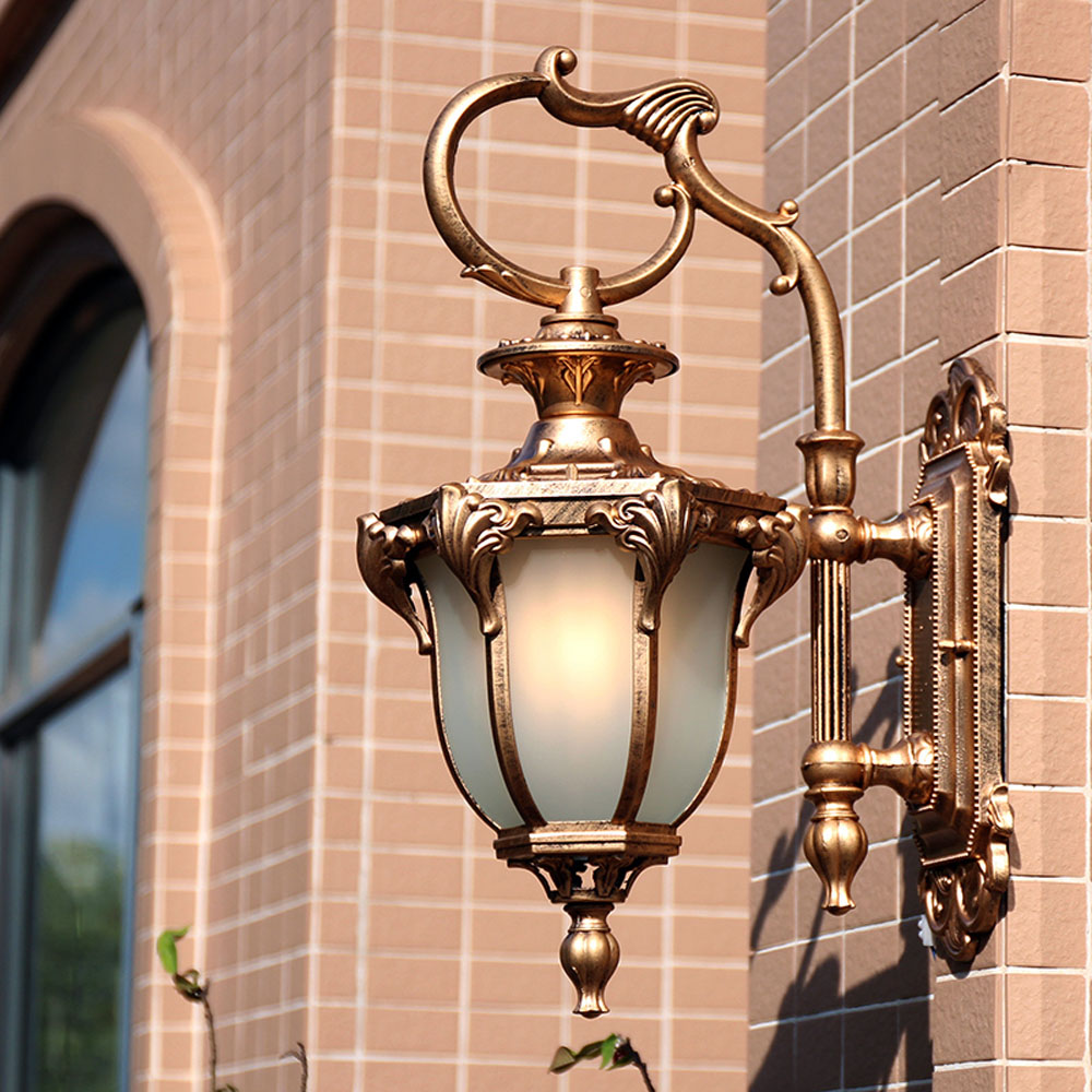 Garden Door Wall European Villa Balcony Corridor Courtyard Street Lamp Retro 110-220v Outdoor Waterproof Iron Wall Lamp european retro outdoor wall lamp villa balcony garden lamp retro wall lamp outdoor retro lamps