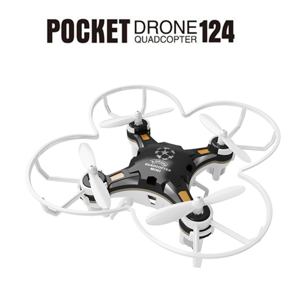 FQ777-124 2.4g 4CH 6-Axis Gyro RTF Controle Remoto de Bolso Bolso Mini Drone RC Quadcopter Aircraft simuladores Com Controlador