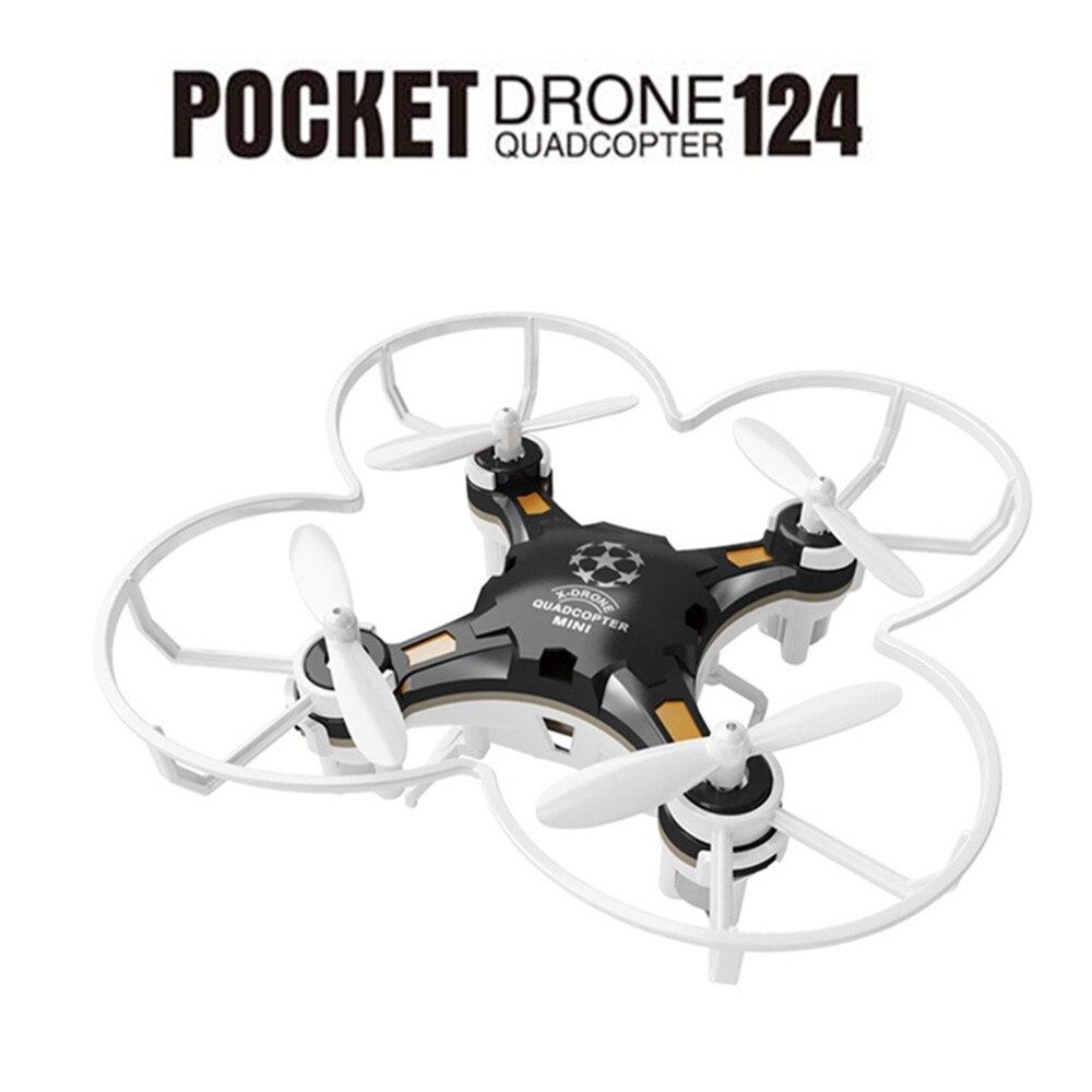 FQ777-124 2,4g 4CH 6 eje Gyro RTF teledirigido bolsillo Quadcopter aviones Mini bolsillo Drone RC simuladores con controlador