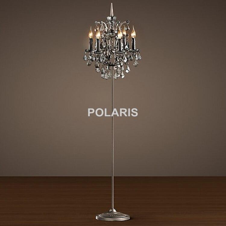 Factory Outlet Modern Vintage Crystal Candle Floor Lamp Orb Cristal ...