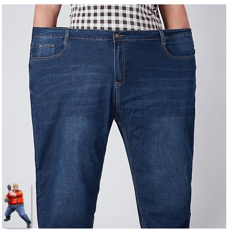 79986b11c965b Stretch Jeans Men 2019 Denim Mens Jean Homme 46 48 52 Plus Size Extra Large  Loose