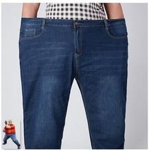 Calças de brim 2020 denim jean homme 46 48 52 plus size extra grande calças soltas azul calca masculina modis ropa