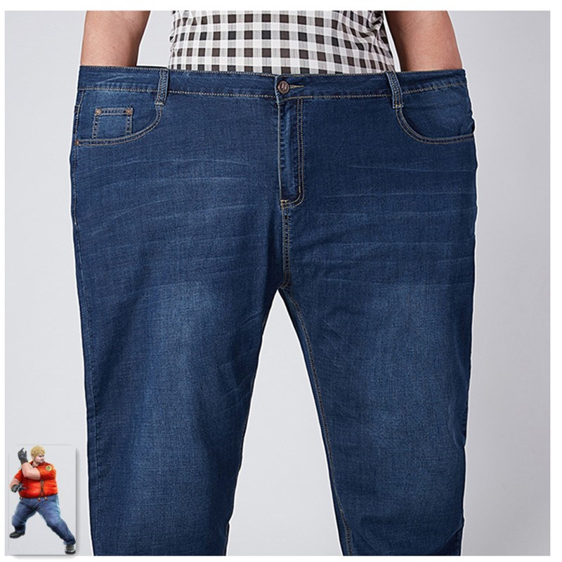 Stretch Jeans Männer 2020 Denim Herren Jean Homme 46 48 52 Plus Größe Extra Große Lose Hosen Blau Roupas Calca masculina Modis Ropa