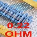 0.22 ohm 1% resistores de filme de Metal 3 w, 3 Watts