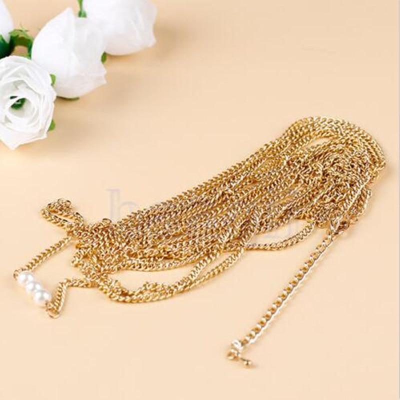Multi Tassel Toe Ring Bracelet Chain Link Foot Jewelry Anklet Jewellery