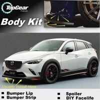 For Mazda CX3 CX 3 CX 3 Akari Bumper Lip / Front Spoiler Deflector For TOPGEAR Friends Car Tuning / Body Kit / Strip Skirt