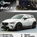 Para Mazda CX 3 Akari CX-3 CX3 Bumper Lip/Spoiler Dianteiro defletor Para TOPGEAR Amigos Carro Tuning/Body Kit/Tira Saia
