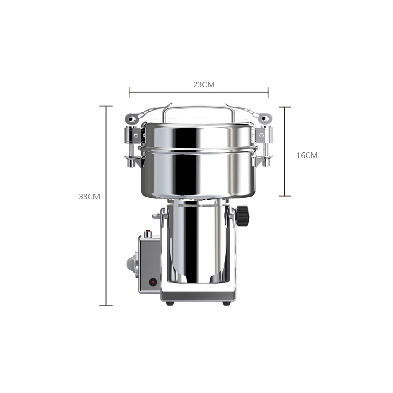 Multi-function Crusher 2200g Large Capacity Food Grinding Machine Stainless Steel Electric Spices Pulverizer 220V XY-2200B dry food grinder machine swing type electric grains herbal powder miller high speed spices cereals crusher w ce ccc