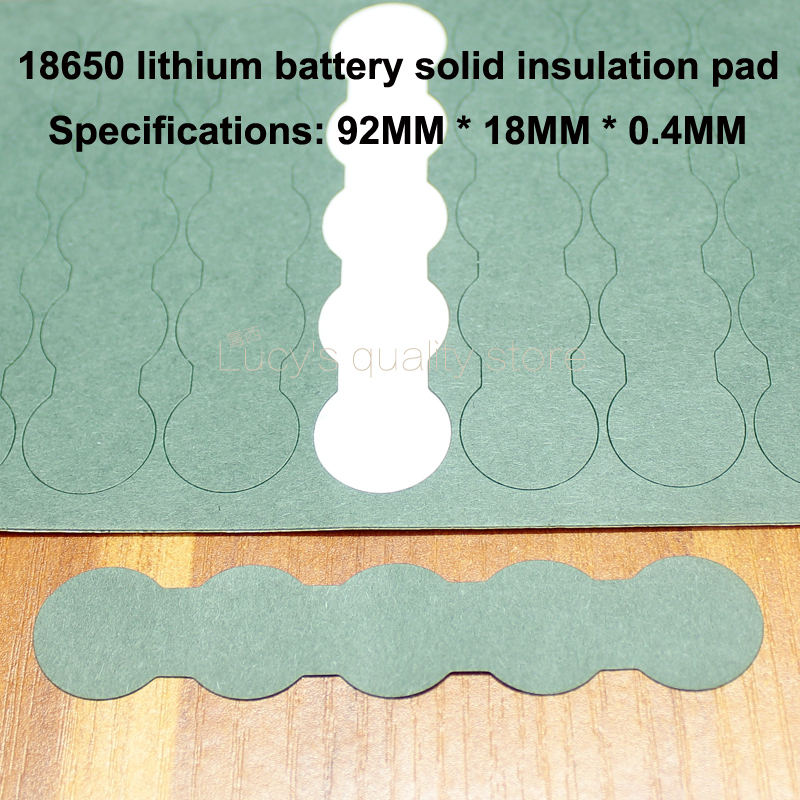 Image 3 - 100pcs/lot 18650 Battery Pack Accessories Solid Insulation Pads 2/3 Ink Barrels Green Shell Paper Diy Fittings-in Replacement Parts & Accessories from Consumer Electronics