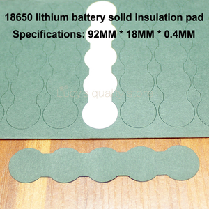 Image 3 - 100pcs/lot 18650 Battery Pack Accessories Solid Insulation Pads 2/3 Ink Barrels Green Shell Paper Diy Fittings