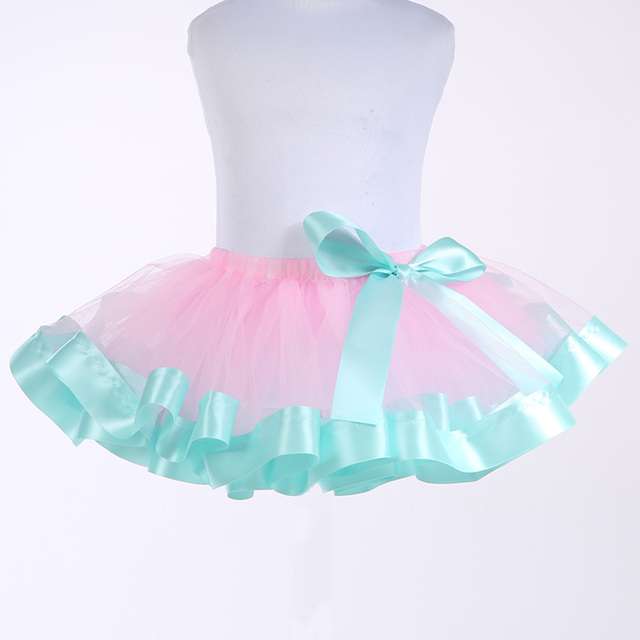 Baby Girl Tulle Fluffy Pettiskirts Princess Tutu Skirt Girls Party Skirts Ballet Dance Wear Kids Tutus Petticoat Clothes 2-12Y