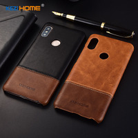 For Xiaomi Redmi Note 5 Case Two Colors Genuine Leather Back Shell Cover Case For Xiaomi