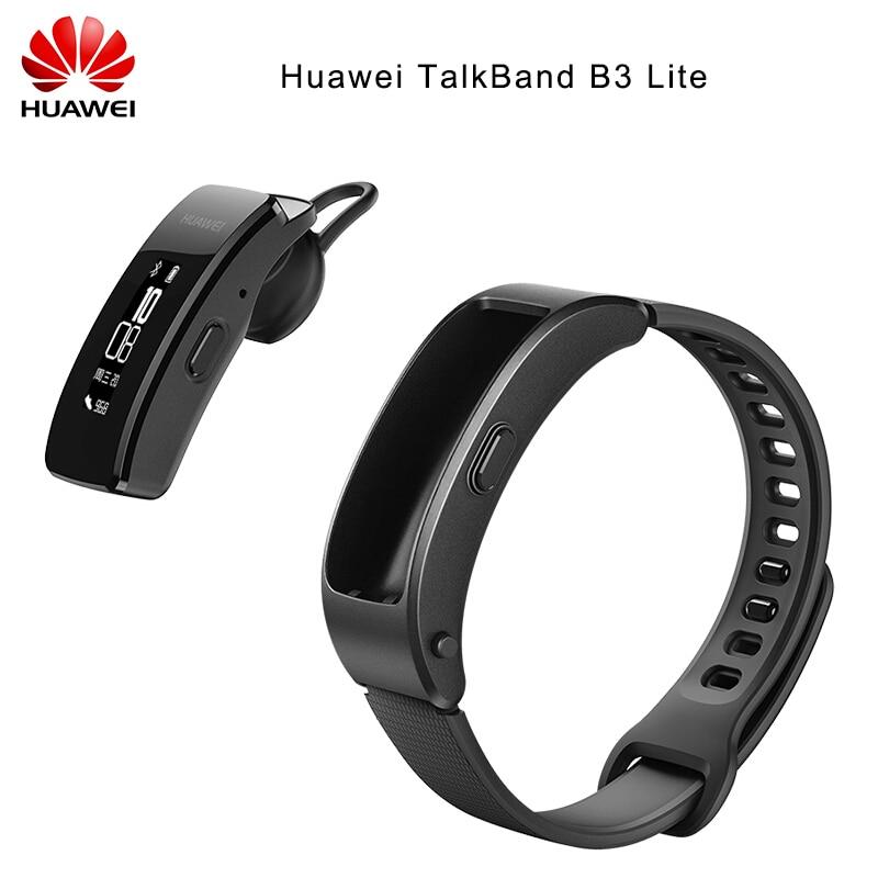 Original Huawei Talkband B3 Lite Smart Wristband Bluetooth Headset Answer/End Call Run Walk Sleep Auto Track Alarm Message B3