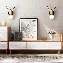 LED Wall lamp wooden chian swicth 5W bulb Modern Loft Bathroom Bedroom Living Room Bedside Stair Creative Home Lights wall ligth