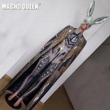 Драг королева костюмы Стразы боди плащ маска Кристалл комбинезон красный ковер Подиум представление вечерние одежда знаменитости