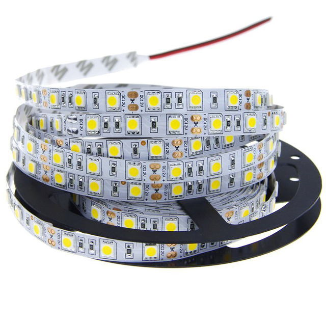 Outdoor Waterproof Solar Led Strip Light Smd 5050 5m: 5M SMD 5050 LED Strip Light 60LEDs/M 300LEDs DC 12V Cold
