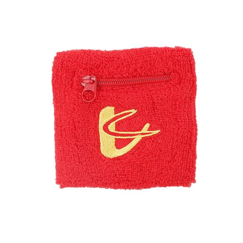Cotton zipper purse Wrist Wallet Pouch Running Sports Arm Band Bag For Key Card Storage Bag Case Badminton Basketball Wristband